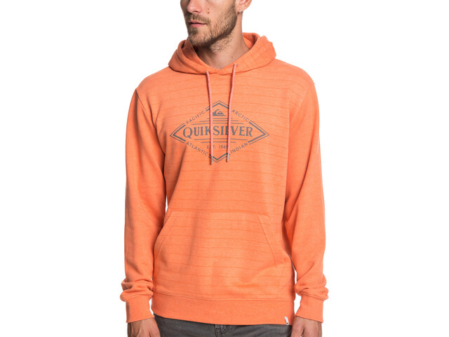 Quiksilver X Elite Veste polaire à capuche Homme, flamingo screen hoodie stripes